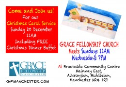 Join Us This Sun 11AM Christmas Carol Service (Free Christmas Dinner)